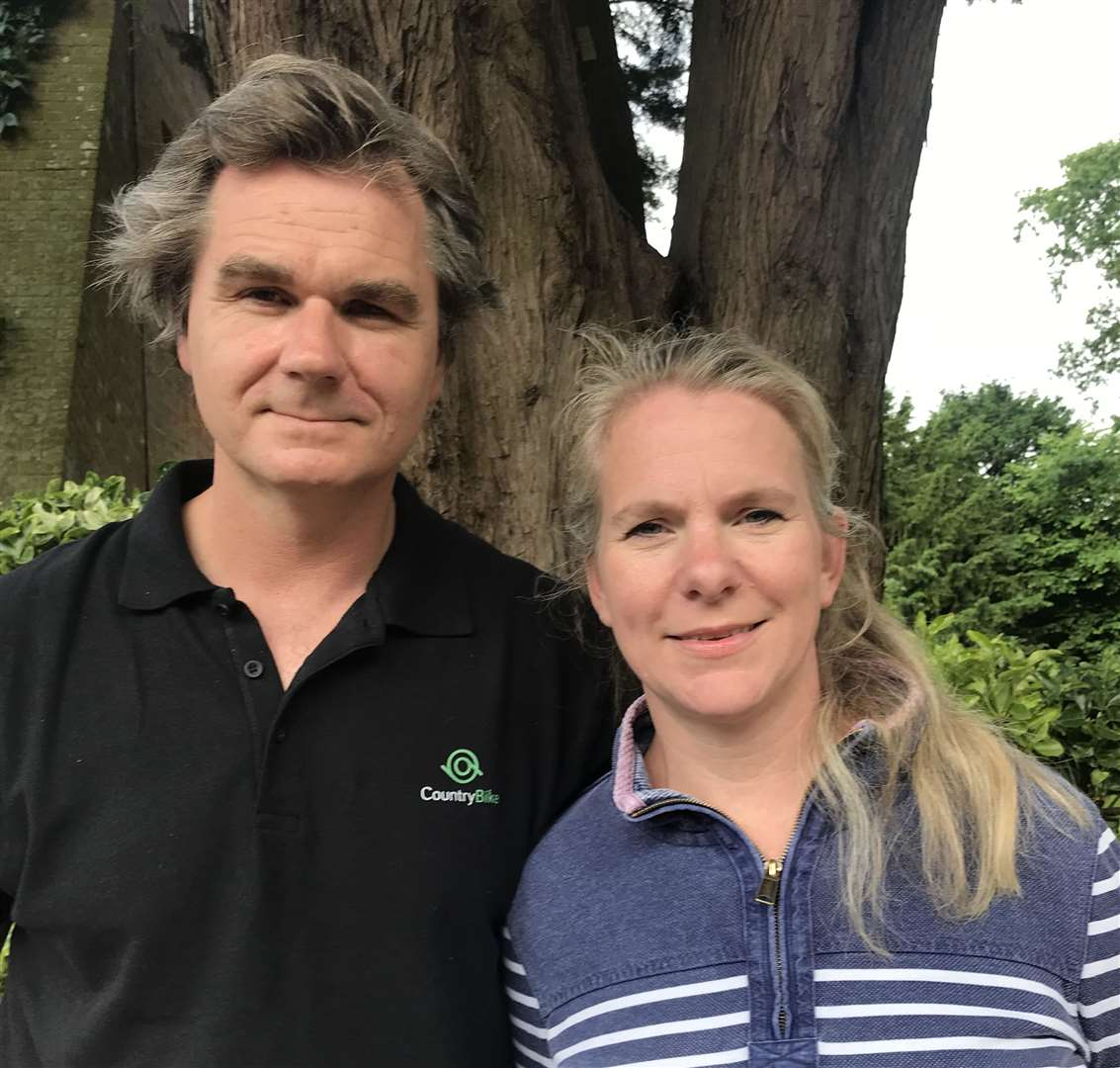 Tim and Suzy Seddon, the owners of CountryBike