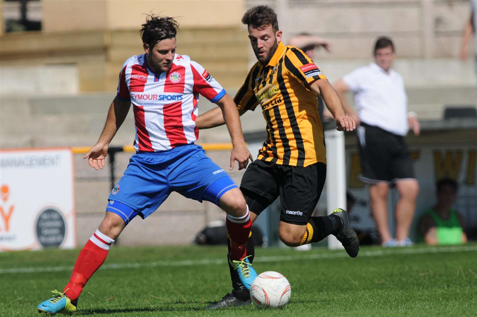 Josh Vincent in action for Folkestone against Dorking Wanderers Picture: Wayne McCabe