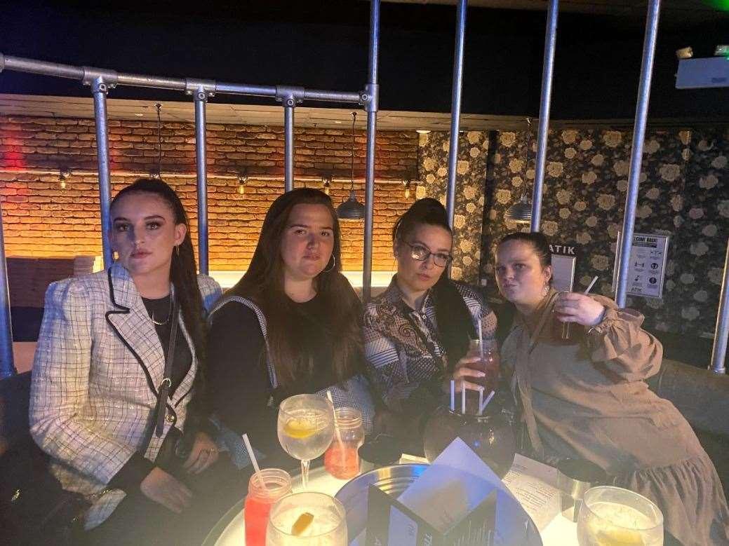 Pub lovers of the night Tiffany, Bonita, Charlene and Beth