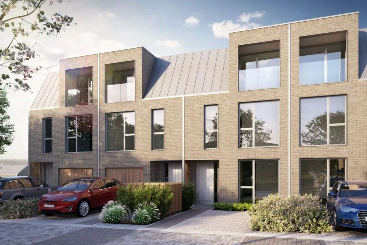 The five-bed terraced house at Kitchener Barracks. Picture: Zoopla / Kitchener Barracks