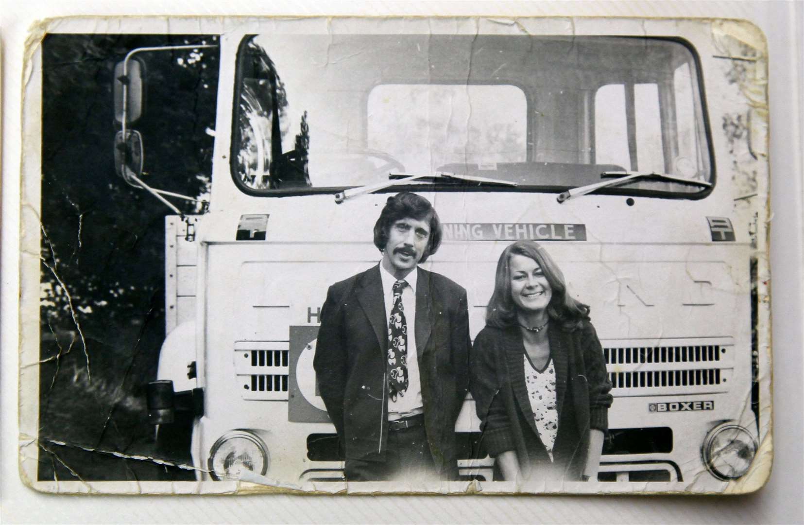 Gorden pictured with trainee Paula in 1974