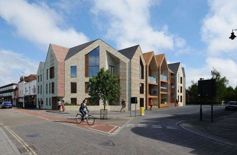 The new flats proposed on the former Northgate Garage site (14456432)