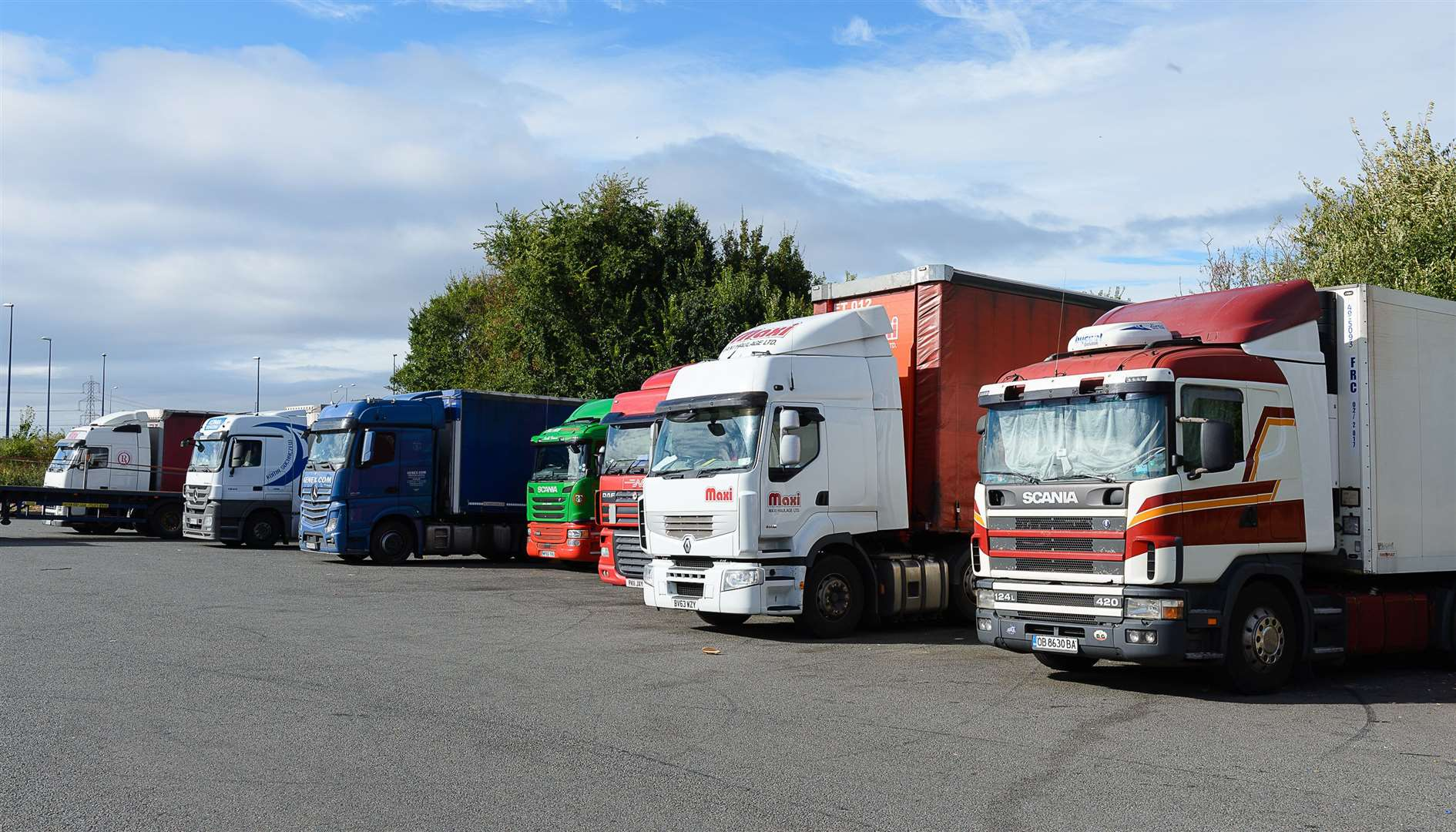 Up to 2,000 lorries could be held on the site