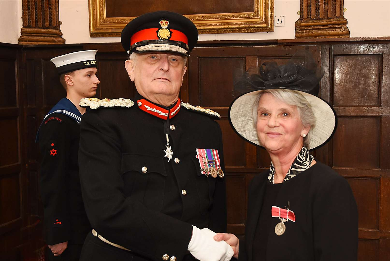 Alison Reynolds receives her British Empire Medal for Services toCommunity Sport in Kent (3948084)