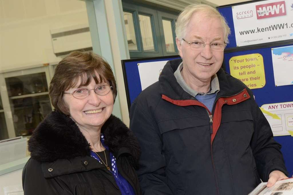 Margaret and Colin Walker from Dymchurch & District Heritage Group