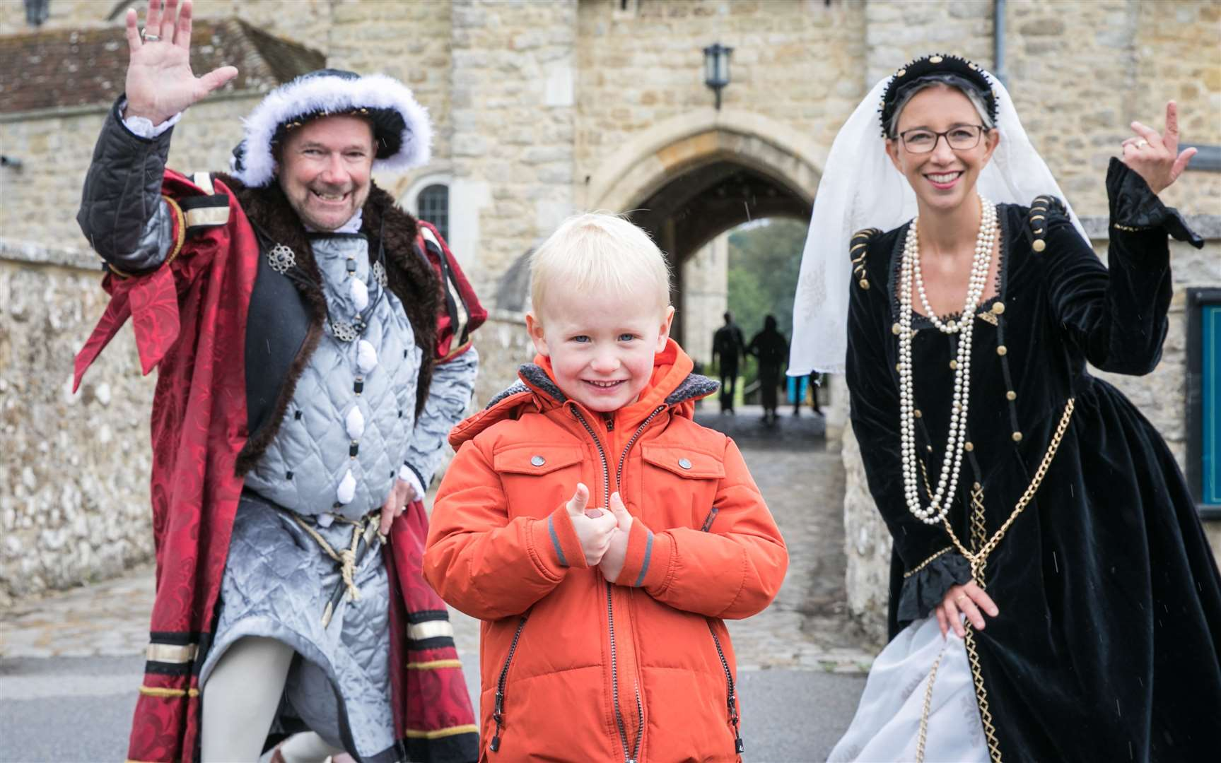 Henry VII and Anne Boleyn greet visitors to the castle. Picture: Matthew Walker