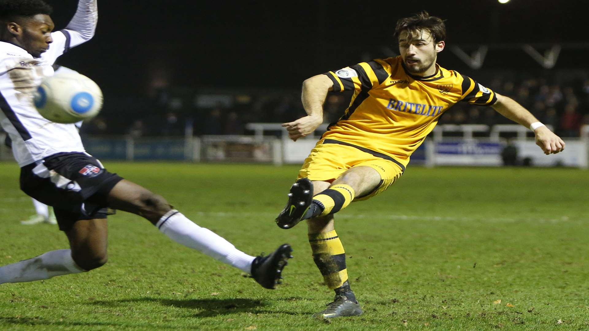 Tom Mills in action for Maidstone Picture: Andy Jones