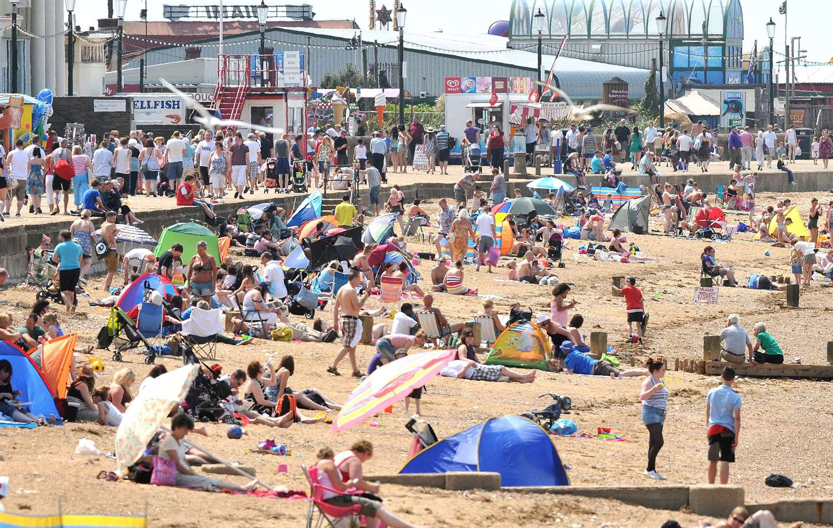 "Residents in Kent took advantage of a Saharan ""heat bubble"" in June"