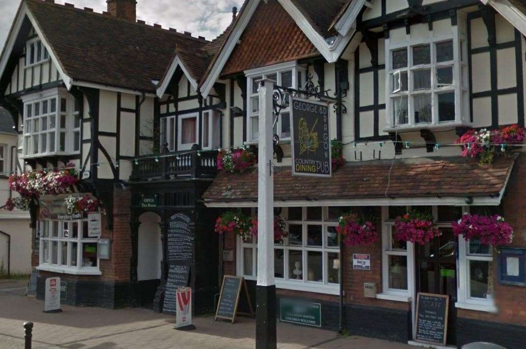 Fighting broke out in Headcorn High Street and inside the George and Dragon pub (19033797)