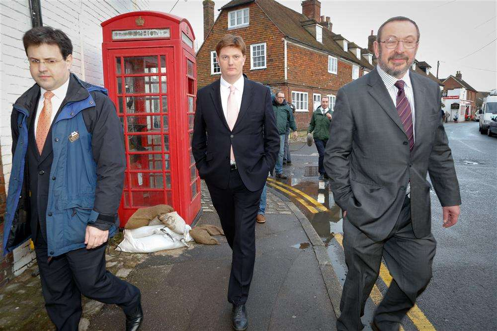 Government minister Danny Alexander visits Yalding.