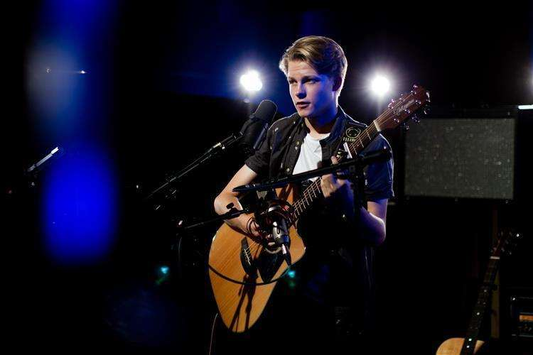 Cooper Stout performs on CBBC's Got What It Takes? Picture copyright BBC