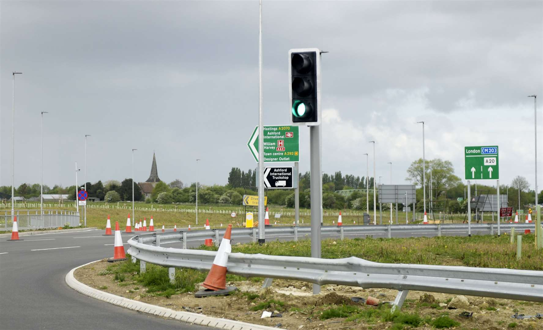 Traffic lights were installed at Junction 10a earlier this year - and now more signals are due to be put up close by. Picture: Barry Goodwin