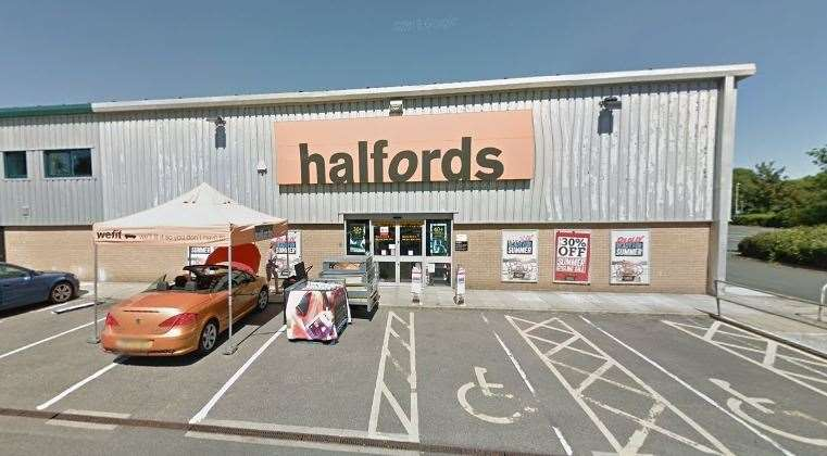 Halfords closed last year after moving to a site at Prospect Retail Park in Whitstable. Picture: Google
