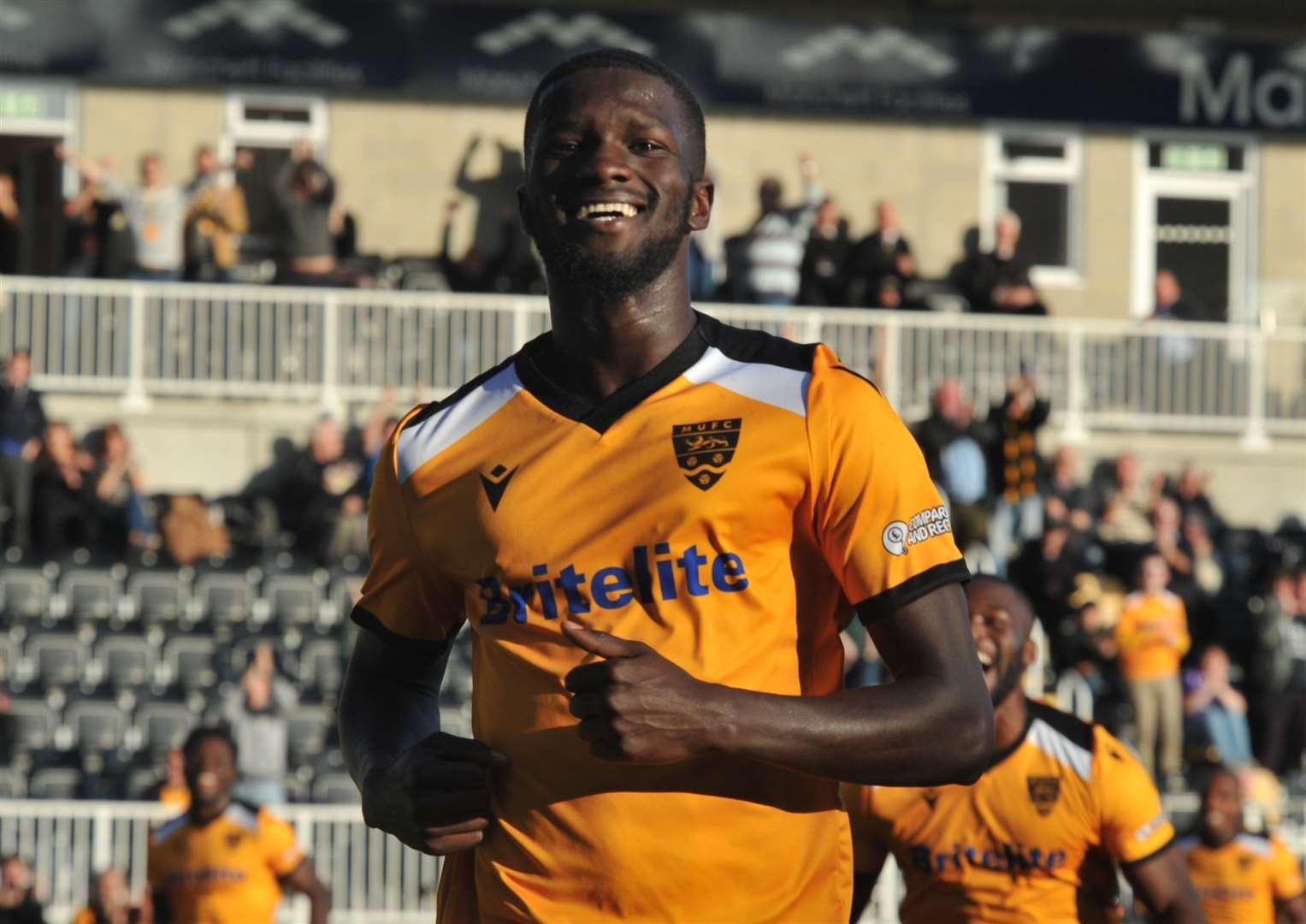 Maidstone United Saidou Khan came close to being named the KOL star man Picture: Steve Terrell