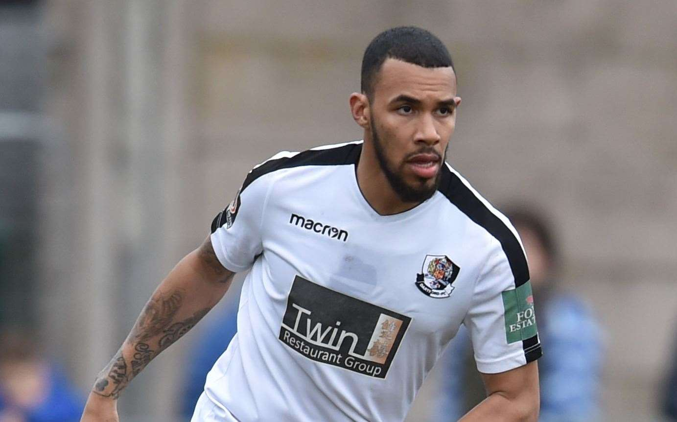 Striker Phil Roberts in action for Dartford. Picture: Keith Gillard