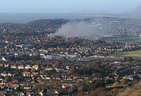 Smoke can be seen high above Folkestone. Picture: Mark Hamilton (5290051)