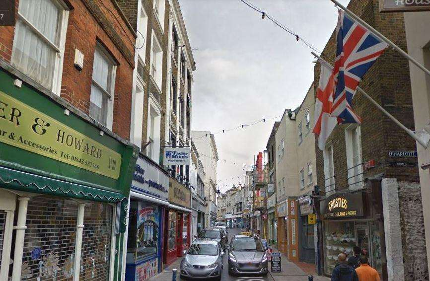The robbery took place in Harbour Street, Ramsgate. Picture: Google Street View (5858106)