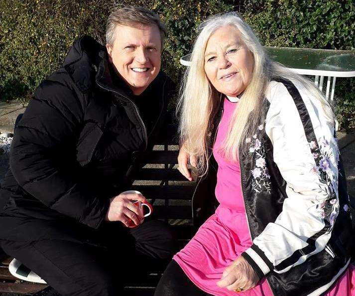 Aled Jones and Rev Cindy