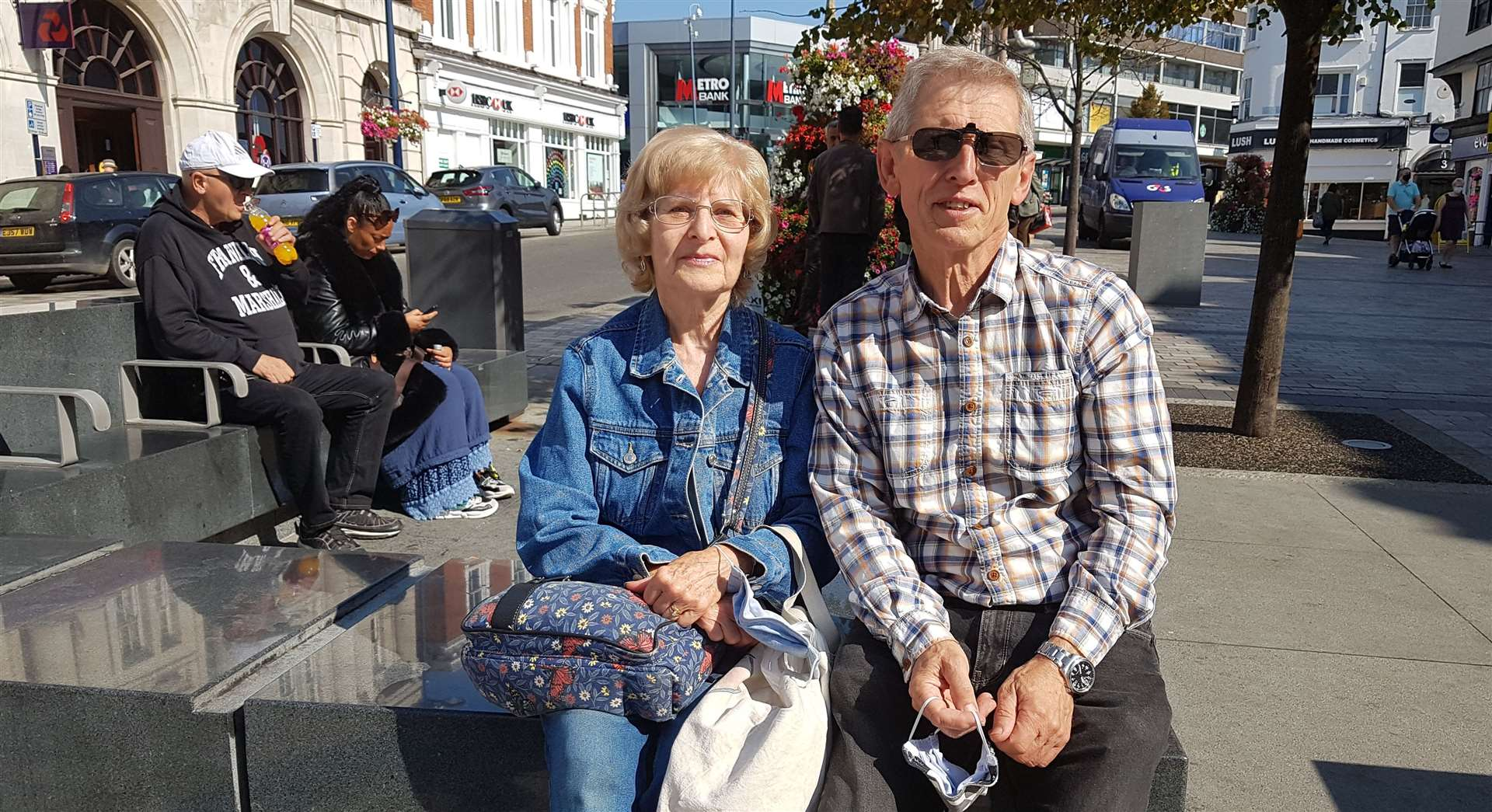 Sylvia and Derek Barnard from Wrotham Heath travelled to Maidstone for the first time since Christmas