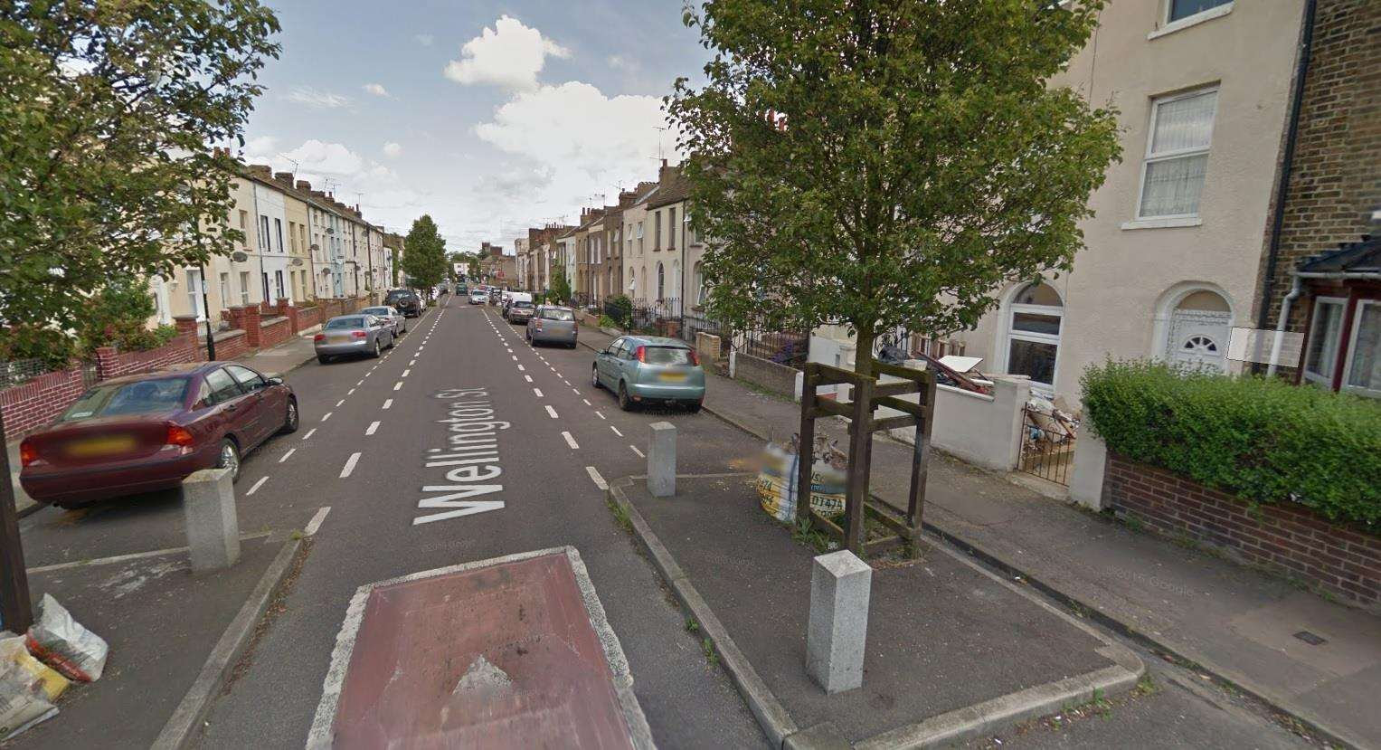 A man was found in Wellington Street, Gravesend. Picture: Google Street View