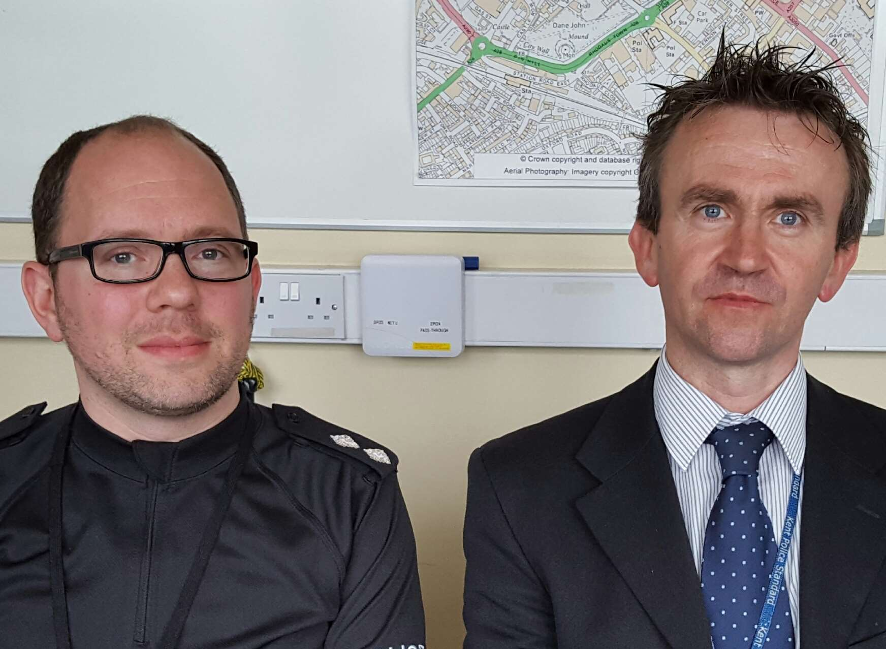 DI Andy Bidmead (left) and DS Richard Lown led the Richard Fearnside missing person investigation