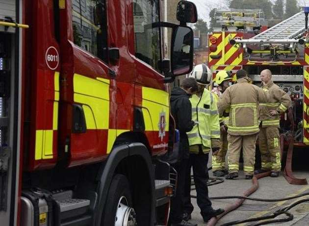 Four fire engines were sent to the scene. Library image