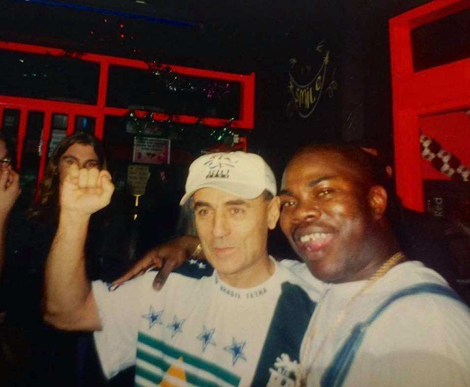 Club owner Tony Degiorgio (left) in the foyer of Excalibur in 1997. Pic -Leah Edmunson.
