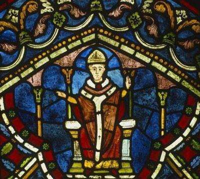Thomas Becket immortalised in a stained glass window