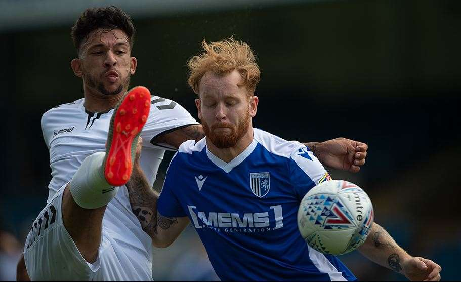 Connor Ogilvie in action for the Gills second half Picture: Ady Kerry (14058512)