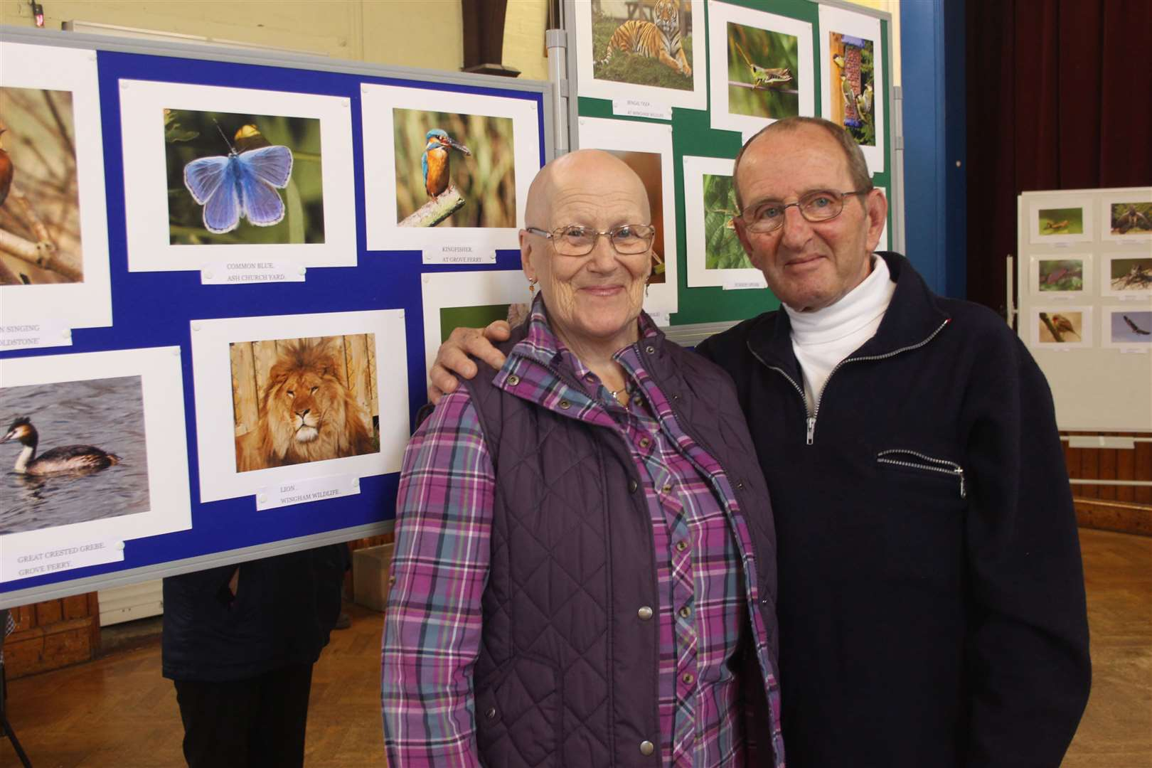 Sheila and Bob Paige who raised money for Age Concern in Sandwich via sales of their wildlife calendar will switch on Sandwich's lights