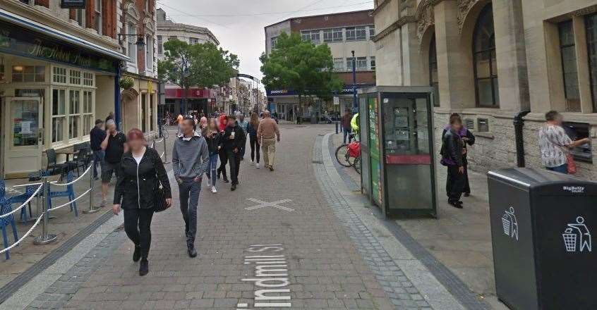Emergency services were seen in Windmill Street, Gravesend. Picture: Google Maps