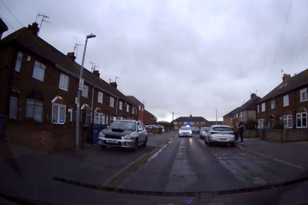 The police pursuit in Cecil Avenue, Sheerness