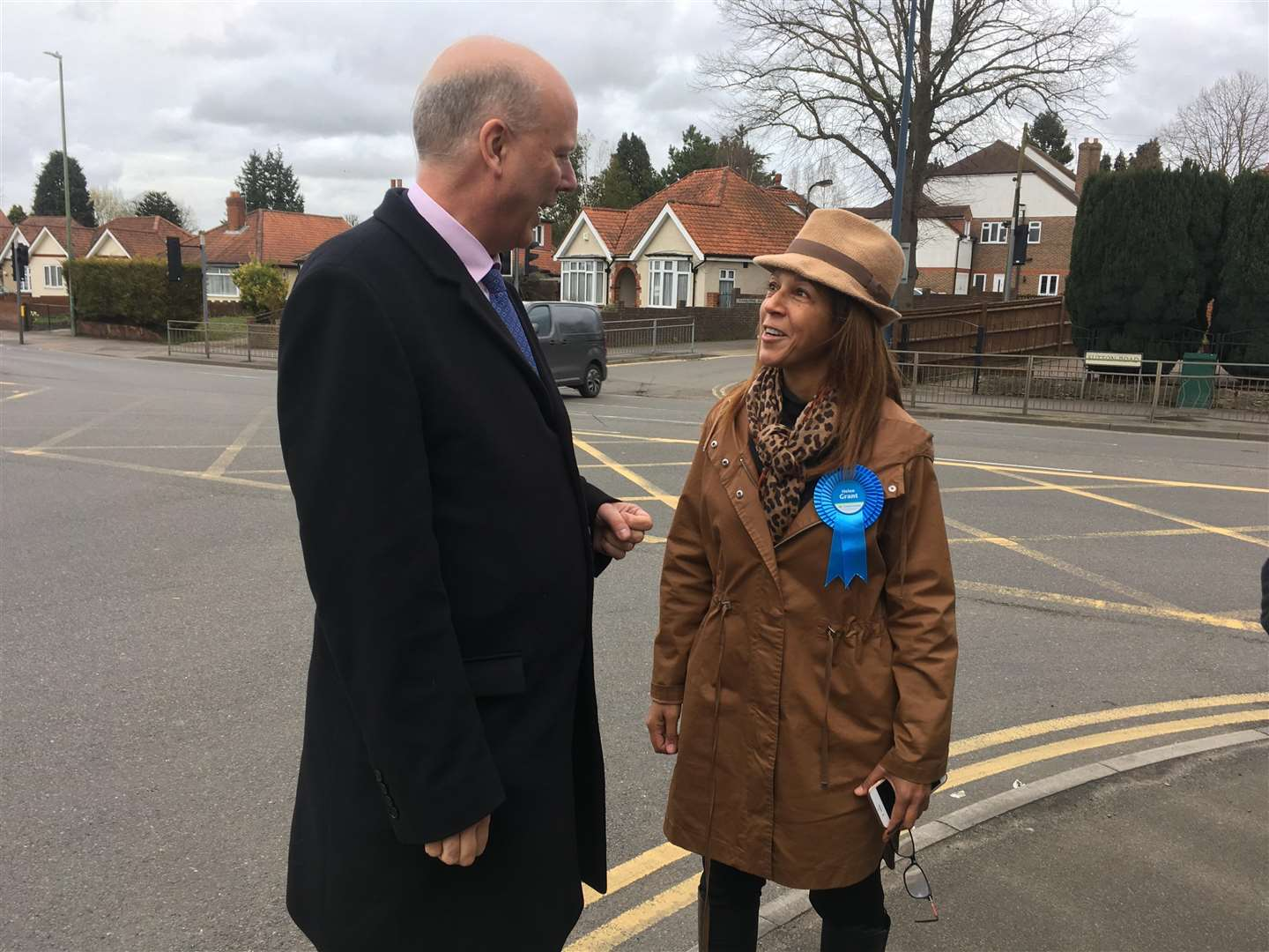 Chris Grayling met with Helen Grant and other Conservative campaigners in Maidstone. (1374809)