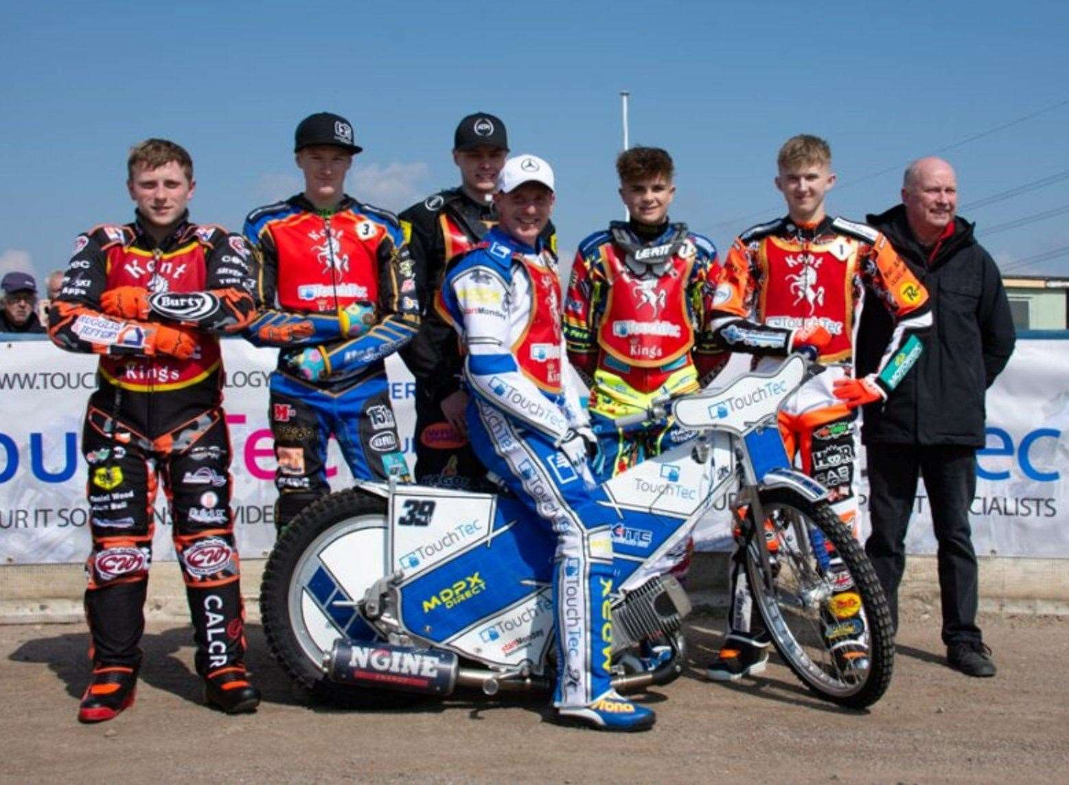 The new-look Kent Kings squad, minus Drew Kemp Picture: Nick Skinner