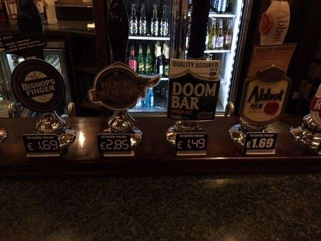 The most expensive draft pint was a powerful cider called Black Dragon, which will set you back £2.85