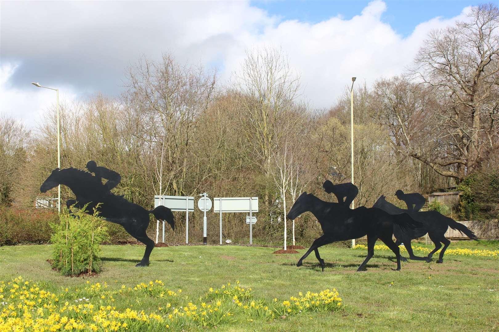 A roundabout on the A20 had horses placed on it earlier this year. Picture: Barry Goodwin
