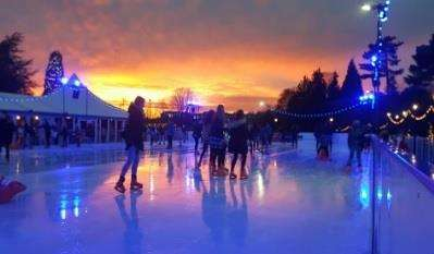 Ice skating at Tunbridge Wells