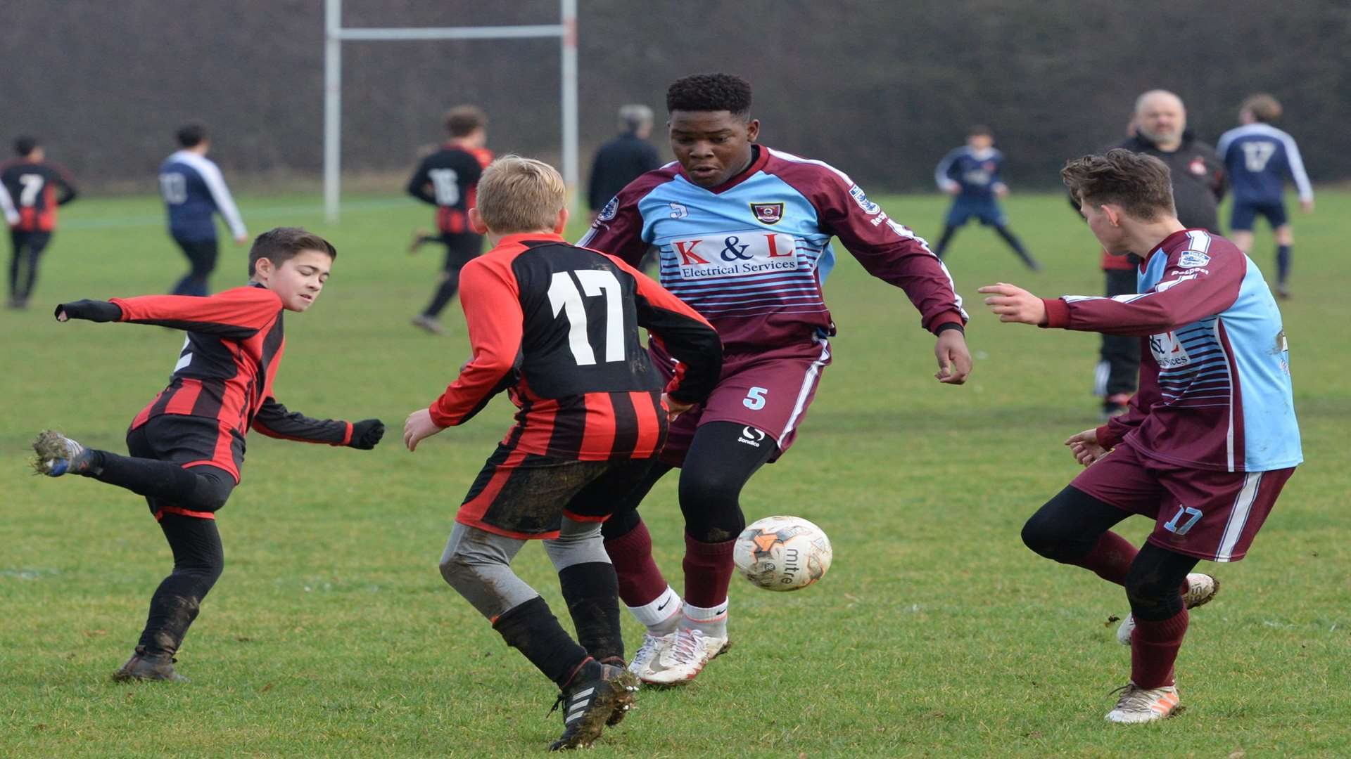 Wigmore Youth and Meopham Colts under-13s go head-to-head on Sunday Picture: Chris Davey