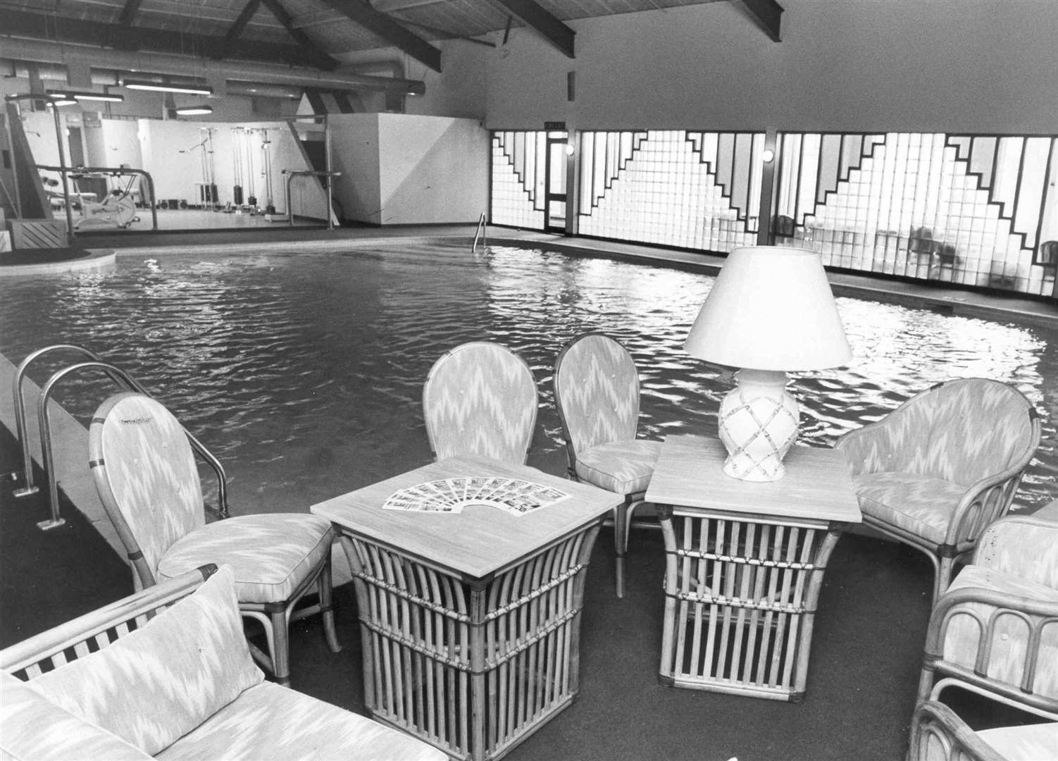 Inside the Health & Leisure Club at Post House Hotel, Wrotham 1984