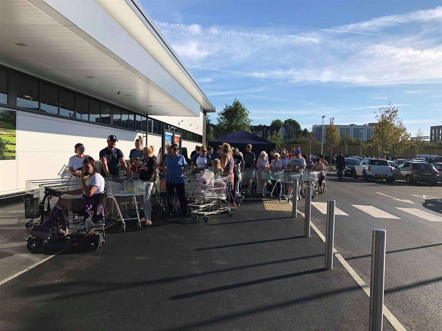 Shoppers queued up for hours