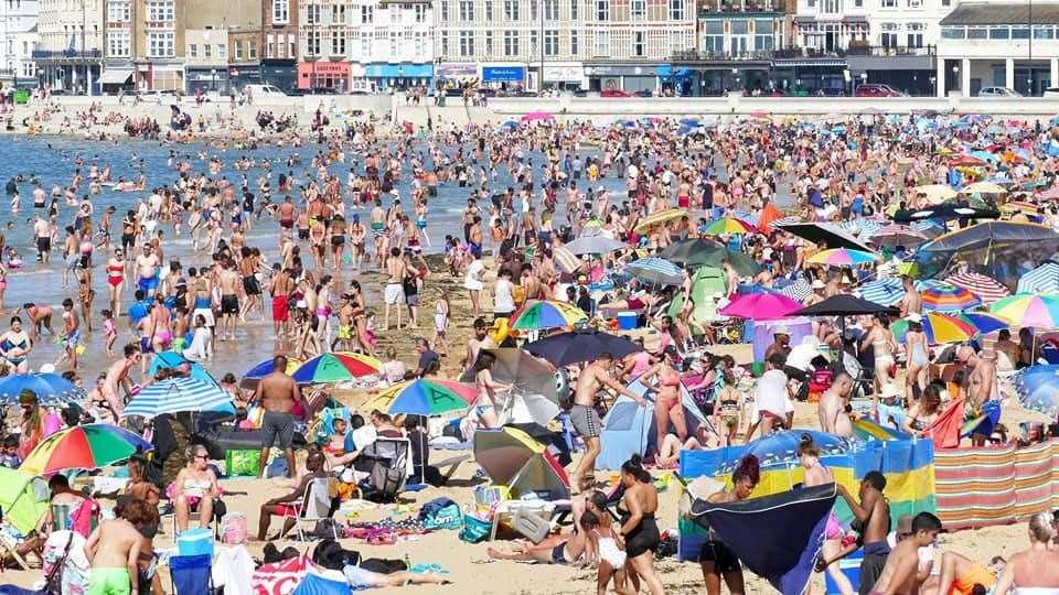 Huge crowds of people on Margate Main Sands have sparked fears of a second wave. Picture: Frank Leppard Photography