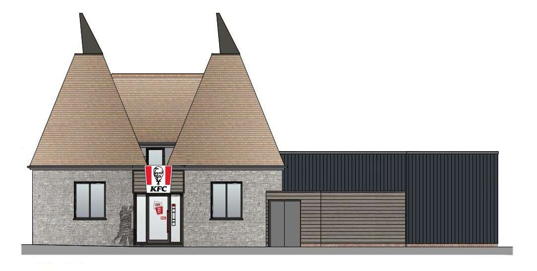 How the proposed KFC drive-thru in Snodland might have looked