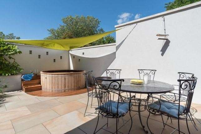The outdoor area. Picture: Zoopla / Strutt & Parker