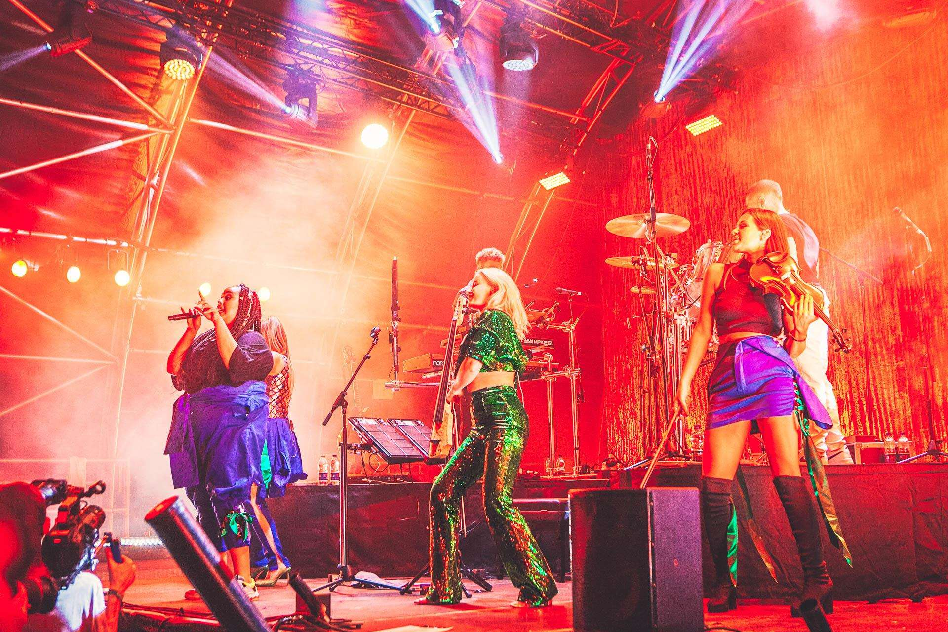 Headliners Clean Bandit at Neverworld. Picture: Kate Darkins