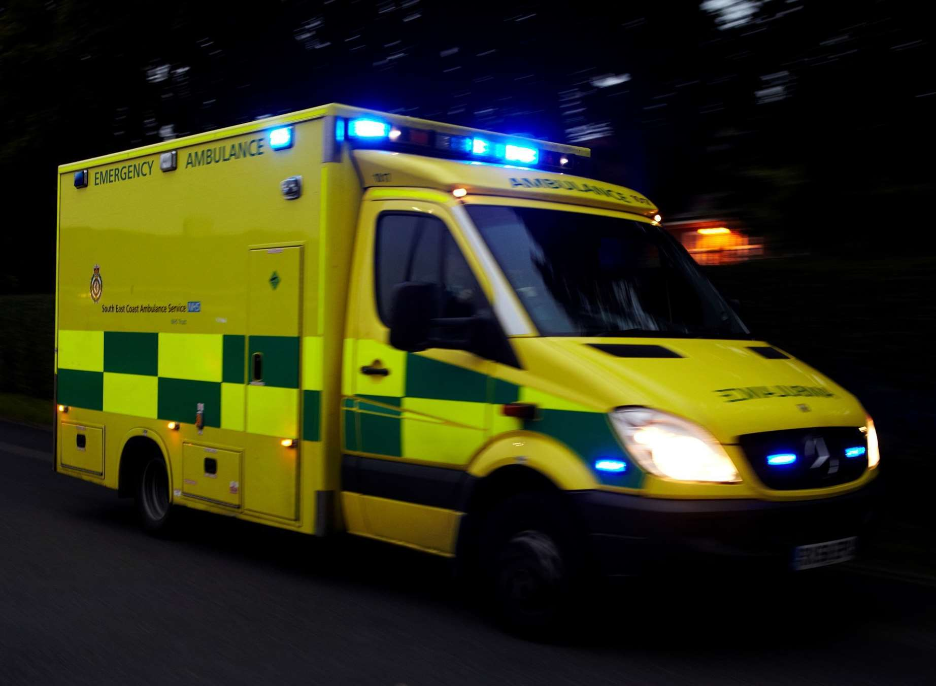 An ambulance was targeted by thieves as paramedics responded to an emergency.