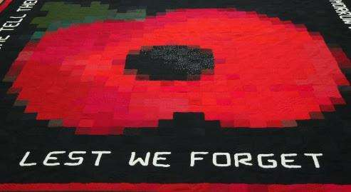 This knitted pixel art poppy goes on show at Linden Hall gallery, Deal (5318071)