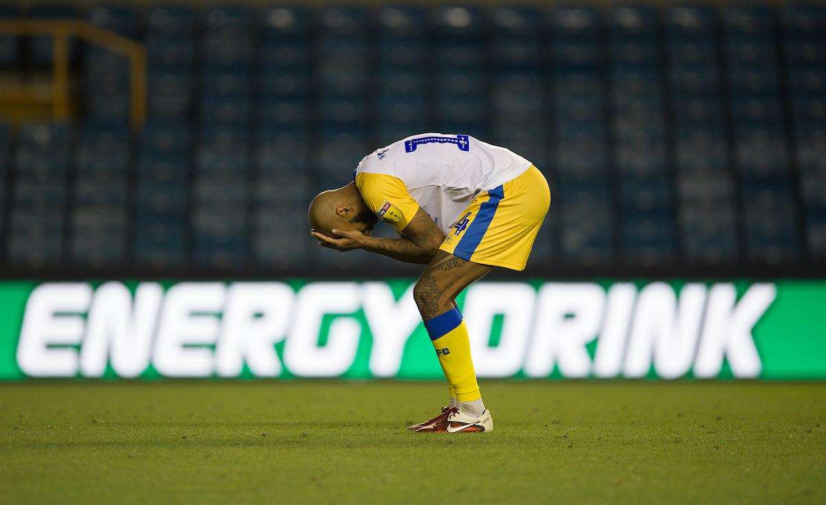 Josh Parker after his penalty miss Picture: Ady Kerry (3603225)