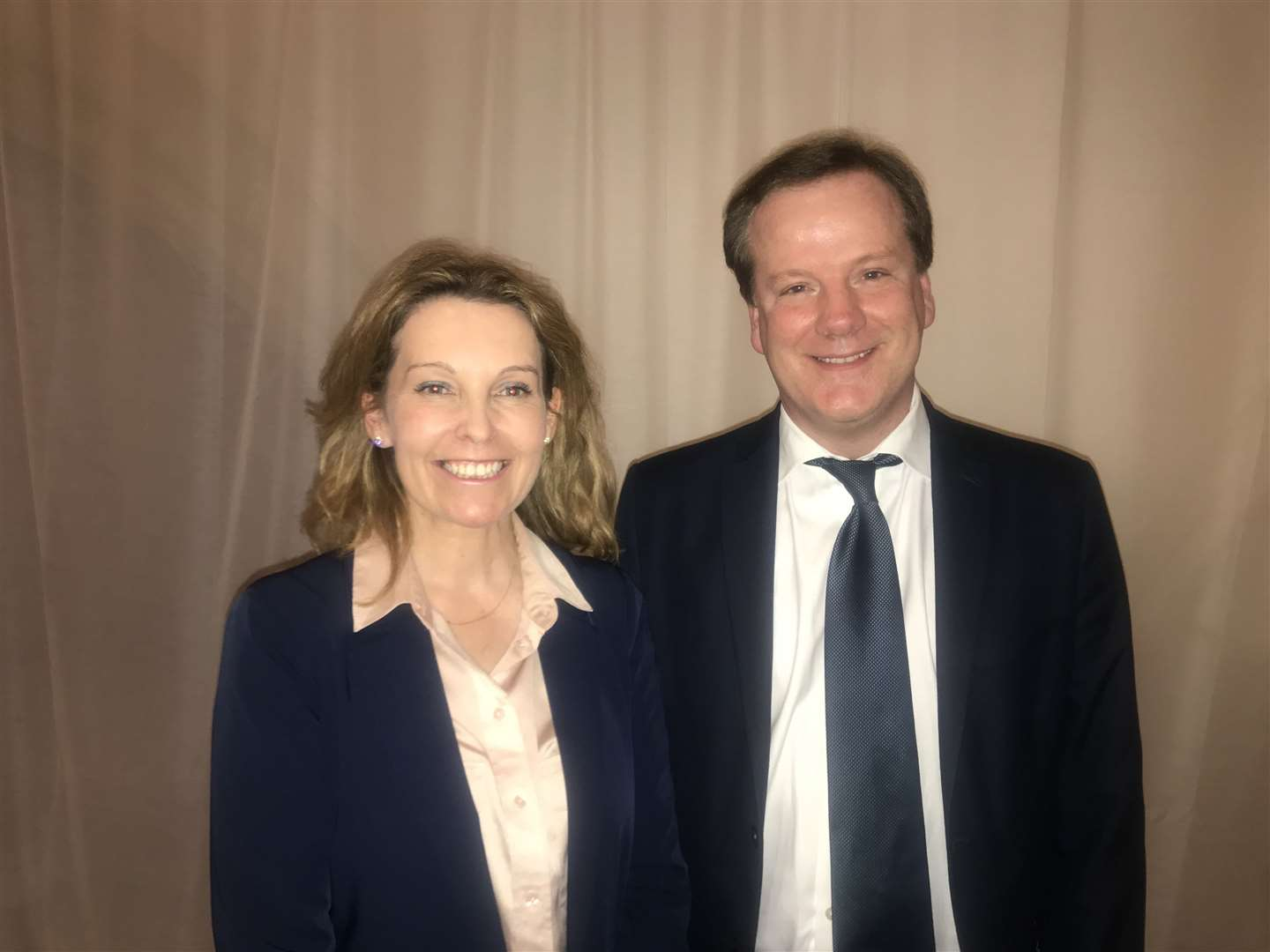 Dover and Deal's new MP Natalie Elphicke with husband and former MP Charlie Elphicke