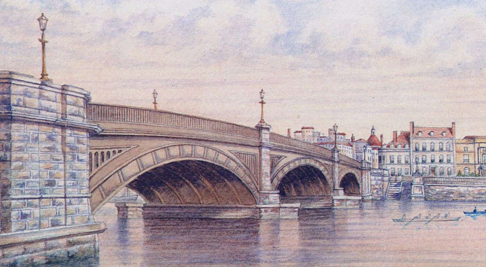 The bridge as it was in Victorian times