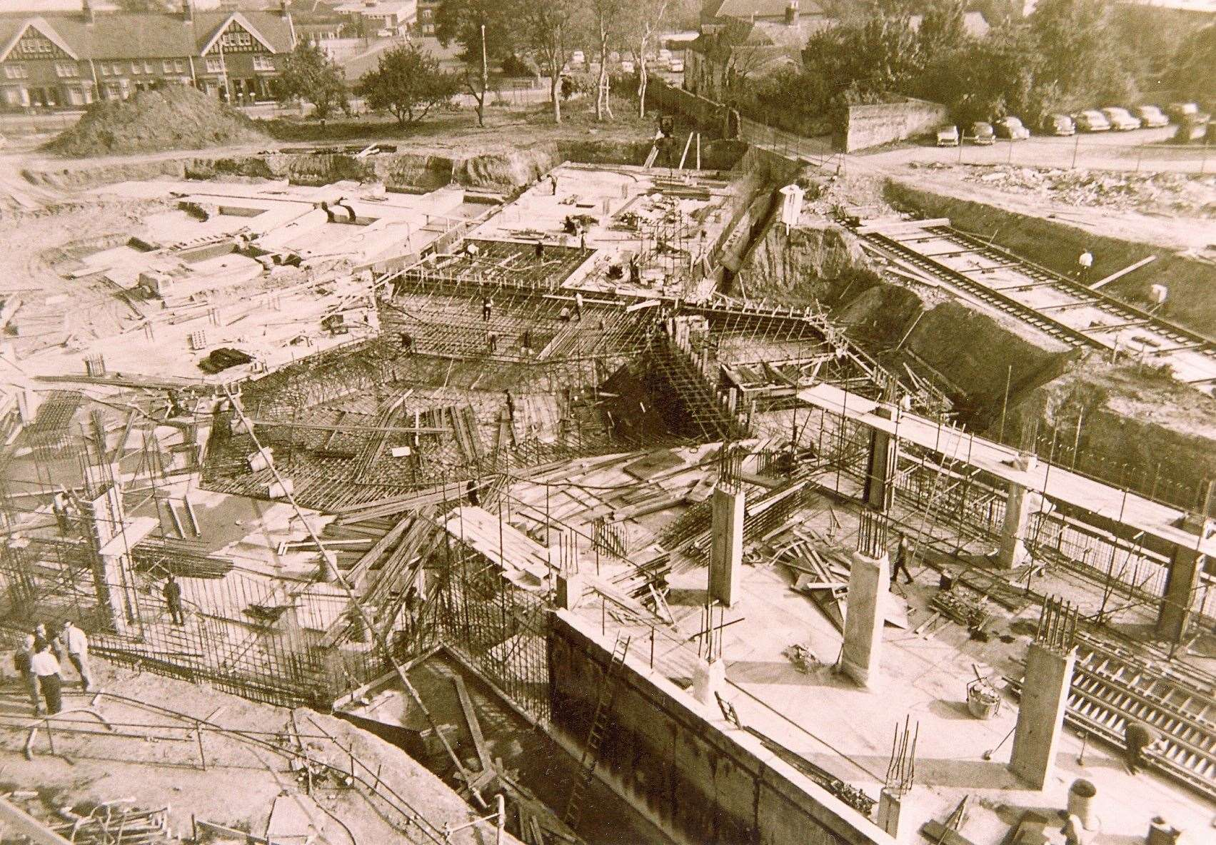 Construction work at Charter House in 1972. Picture: Steve Salter